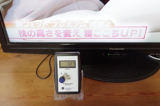 スイッチ後のテレビ前の磁場