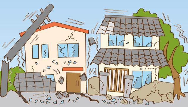 旧耐震の建物は地震に