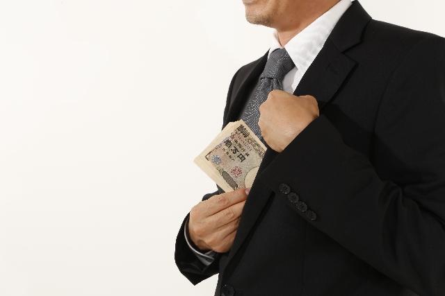 営業マンとお金のイメージ写真