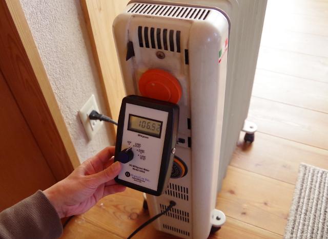 オイルヒーターの磁場