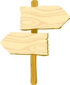 2つの方向の看板