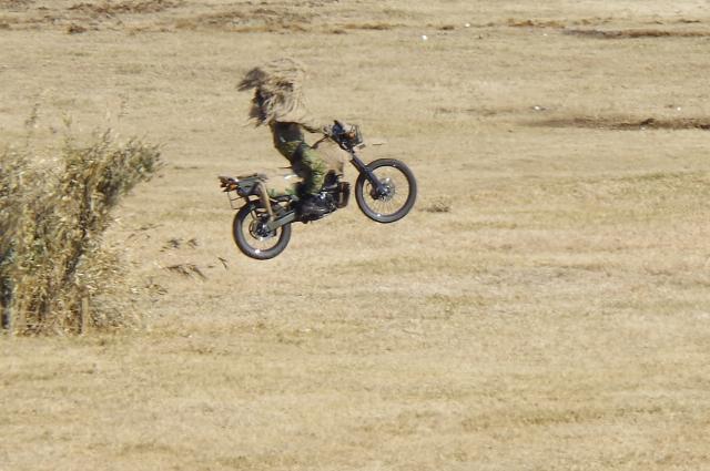 バイクのジャンプ