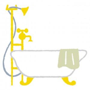 シャワーで湯船にお湯を