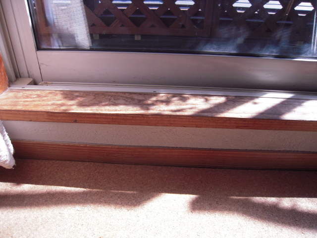 段差がある掃出し窓