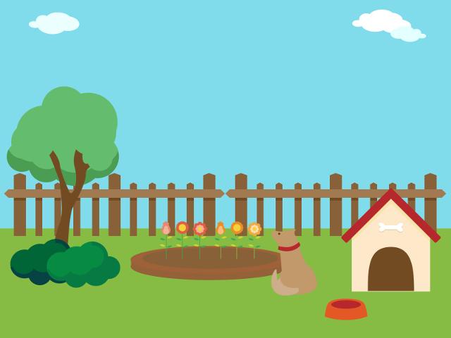庭の犬小屋