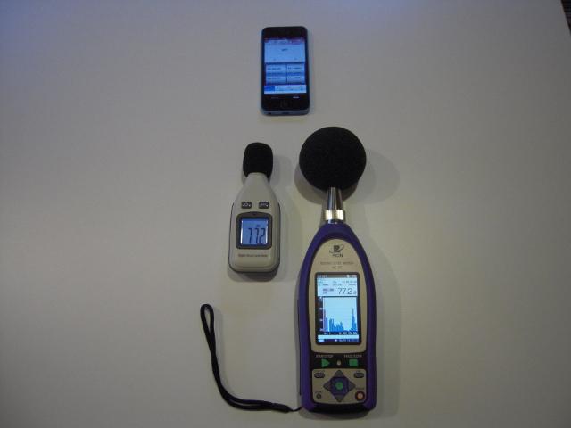 通常の騒音計との比較