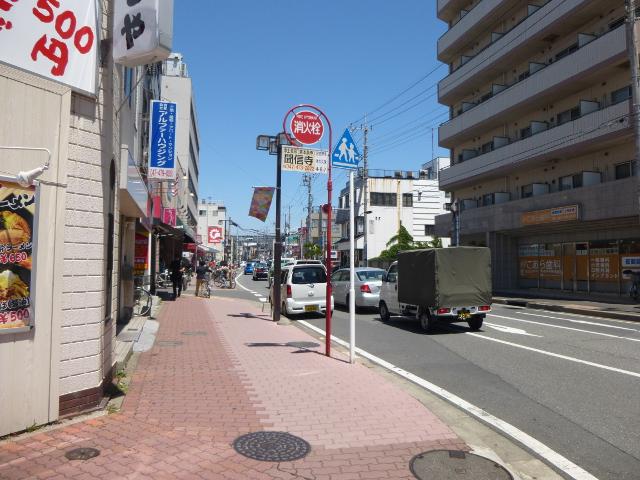 実籾駅前の通り