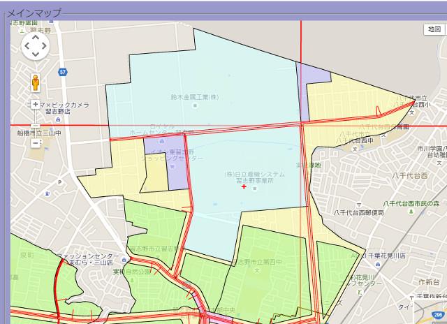 東習志野の用途地域