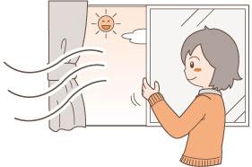 窓を開ける習慣