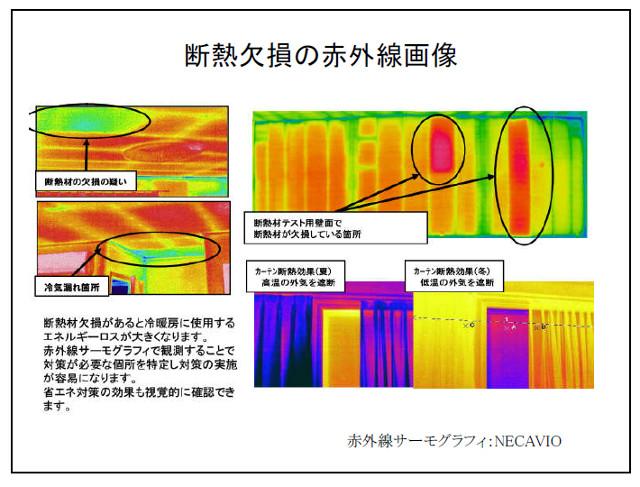 断熱欠損の赤外線画像