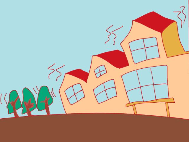 建物の耐震性のイメージ