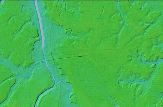 勝田台周辺の地形