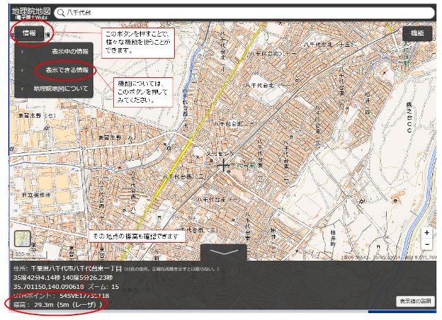 地理院地図の詳細
