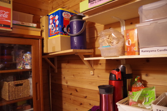 DIYで取り付けた棚