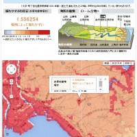 朝日新聞揺れやすさが分かるサイト