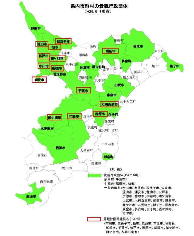 千葉県内市町村の景観行政団体