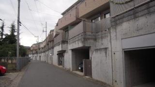 八千代台東の南東の端の建物群