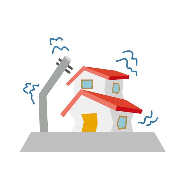 地震による建物の影響イメージ図