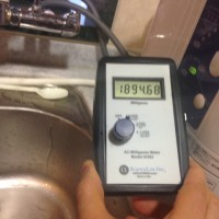 電解水生成機の磁場
