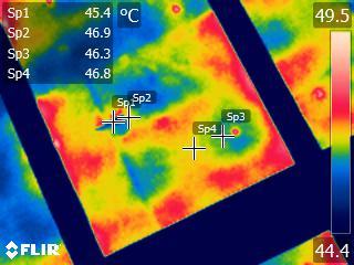 屋根裏野地板部分のサーモ画像