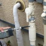 ガス配管の接続部のガス漏れ調査