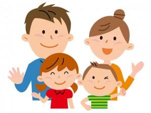 4人家族のイメージ