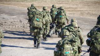 訓練に向かう自衛隊員さんたち