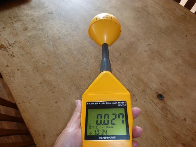 普通の場所の高周波の電磁波(高い時)