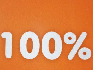 100%のイメージ