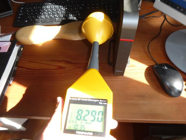 無線LANの横の高周波電磁波
