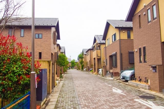 住宅地の道路