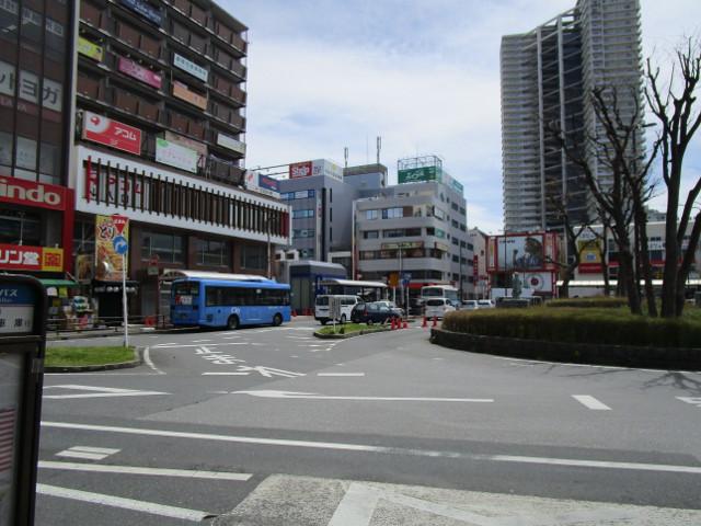 稲毛駅東口から見た風景