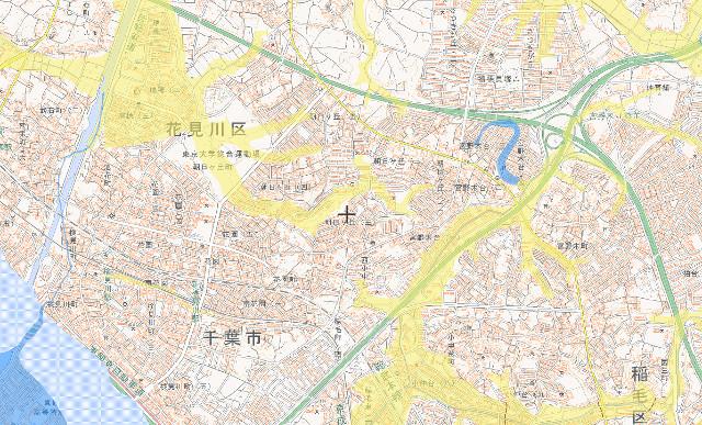新検見川駅周辺の明治期の低湿地