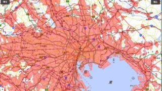 人口集中地区の地図